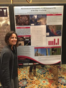 Alexis presented on long term demography of lesser long nosed bats in Baja Mexico.