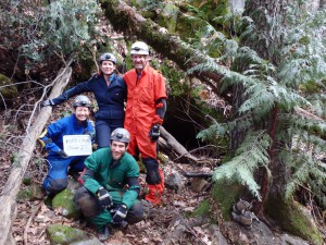 Fred with the bat survey crew before we head in